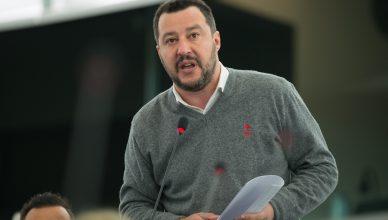Matteo Salvini en el Parlamento Europeo.