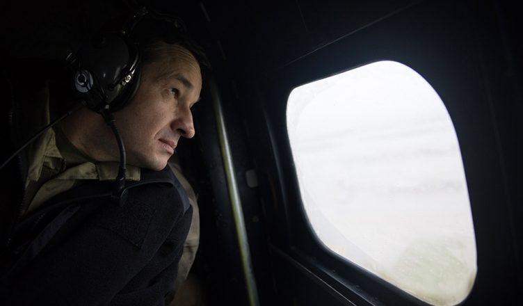 El primer ministro Mateusza Morawircki en visita al Líbano en febrero de 2018.