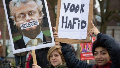 Manifestación en apoyo del escritor holandés-marroquí Hafid Bouazza en 2014. Foto / Alex Proimos CC BY-SA